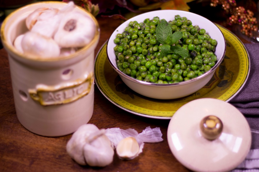 Garlic Mint Peas